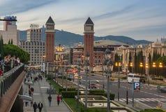 Wenecki Góruje w Barcelona Obrazy Royalty Free