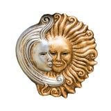 Wenecki maskowy słońce i księżyc zdjęcia stock