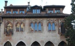 Wenecki pałac w piazza Duomo w Treviso w Veneto (Włochy) Zdjęcia Stock
