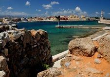 Wenecki port w Chania Grecja Zdjęcia Royalty Free
