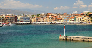 Wenecki port w Chania Grecja Obrazy Royalty Free