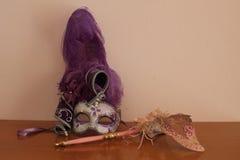 Weneckie maski w różowych brzmieniach zdjęcie stock