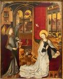 Wenen - Aankondigingsscène in het schip van de kerkdata van ongeveer 1360 royalty-vrije stock foto