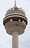 Wenen Donauturm, in April 1964 wordt geopend die Stock Foto's