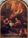 Wenen - Dood van st. Joseph van. cent 19. in de kerk van Augustinerkirche of Augustinus- Royalty-vrije Stock Afbeeldingen