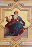 Wenen - Fresko van Amos helderzienden door Karl von Blaas van. cent 19. in Altlerchenfelder-kerk Stock Afbeelding