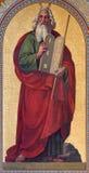 Wenen - Fresko van Mozes door Joseph Schonman van jaar 1857 in Altlerchenfelder-kerk stock afbeeldingen