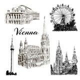 Wenen - hand getrokken bildingsinzameling Royalty-vrije Stock Afbeelding