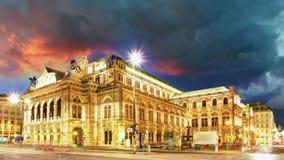 Wenen - het Huis van de Opera stock footage