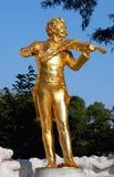 Wenen: Het standbeeld van Strauss Stock Afbeeldingen