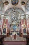 Wenen - Hoofdaltaar van Schottenkirche royalty-vrije stock foto's