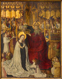 Wenen - Kroning van heilige Mary van jaar 1350 stock foto