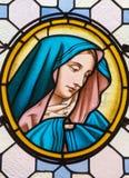 Wenen - Maagdelijke Mary van ruit in Carmelites-kerk in Dobling door Geyling werkruimte stock afbeeldingen