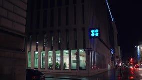 WENEN, OOSTENRIJK - DECEMBER, Organisatie 24 van het Olieuitvoerende hoofdkwartier van de OPEC van Landen in de avond Royalty-vrije Stock Fotografie