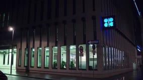 WENEN, OOSTENRIJK - DECEMBER, Organisatie 24 van het Olieuitvoerende hoofdkwartier van de OPEC van Landen in de avond Royalty-vrije Stock Afbeeldingen