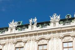 Wenen, Oostenrijk Hoger Belvedere Paleis royalty-vrije stock foto