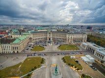 WENEN, OOSTENRIJK - OKTOBER 07, 2016: Neue Burg, Heldenplatz, Weltmuseum Wien, Prinz Eugen von Savoyen, Ephesos-Museum, Oostenrij royalty-vrije stock fotografie