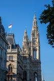 Wenen Rathaus royalty-vrije stock afbeelding