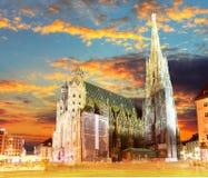 Wenen Stephansdom, Oostenrijk Stock Afbeelding