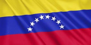 Wenezuela flaga falowanie z wiatrem ilustracja wektor