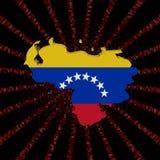 Wenezuela mapy flaga na czerwonej hex kodu wybuchu ilustraci ilustracja wektor
