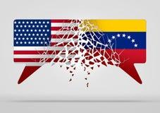 Wenezuela Stany Zjednoczone konflikt royalty ilustracja