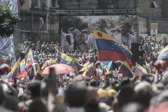 Wenezuelczyka żądania wolność obrazy royalty free