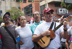 Wenezuelski lider opozycji Maria Corina Machado obrazy stock