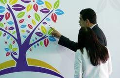 Wenezuelski prezydent Nicolas Maduro Flores i pierwszy damy rzęska Obraz Royalty Free