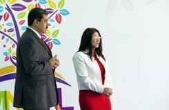 Wenezuelski prezydent Nicolas Maduro Flores i pierwszy damy rzęska Zdjęcia Royalty Free