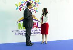 Wenezuelski prezydent Nicolas Maduro Flores i pierwszy damy rzęska Zdjęcie Stock