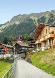 Wengen in de Zwitserse Alpen Stock Afbeelding