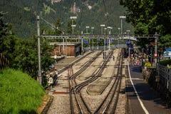 Wengen järnvägsstation Royaltyfri Foto