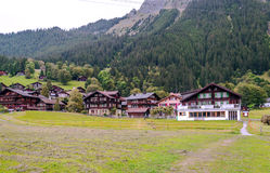 Wengen nelle alpi svizzere Fotografie Stock Libere da Diritti