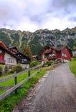 Wengen nelle alpi svizzere Immagini Stock