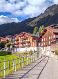 Wengen nelle alpi svizzere Immagine Stock