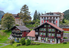 Wengen in the swiss Alps Stock Photo