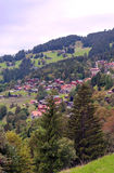Wengen in the swiss Alps Stock Photo