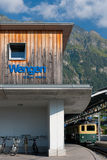 Wengen train station Royalty Free Stock Image
