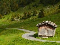 Wengen zwitserland Panoramische mening Alpes royalty-vrije stock afbeeldingen