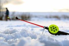 Wenig Angelrute des Winters Lizenzfreie Stockfotografie
