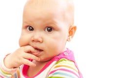 Wenig Braun gemustertes kaukasisches Baby Stockfotos