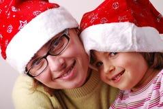 Wenig Engel mit Mutter Lizenzfreies Stockfoto