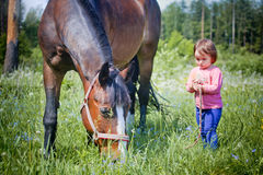 Wenig farmgirl Stockbild
