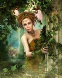 Wenig Fee im magischen Garten, 3d CG stockbilder