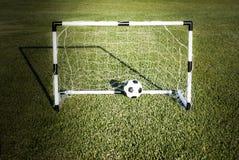 Wenig Fußballtür Stockfotografie