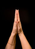 Wenig Gebet stockbild