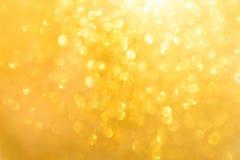 Wenig gelbe Lichter unscharf Lizenzfreies Stockfoto