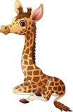Wenig Giraffenkalbsitzen lizenzfreie abbildung