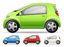 Wenig grünes Auto Stockfotografie